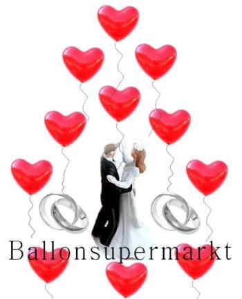 Luftballons Herzen im Ballonsupermarkt-Onlineshop